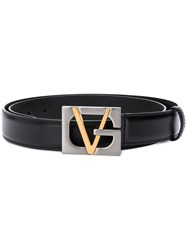 Versace Gv Buckle Belt Black