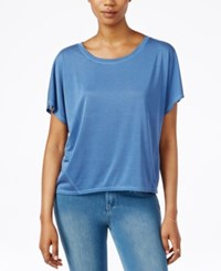 Rachel Rachel Roy Split Back Short Sleeve Top Indigo