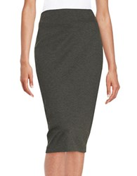 Vince Camuto Stretch Pencil Skirt Dark Heather Grey