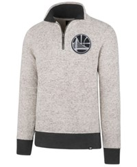 47 Brand '47 Men's Golden State Warriors Kodiak Tonal Quarter Zip Pullover Cream Charcoal