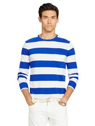 Ralph Lauren Polo Striped Long Sleeve T Shirt College Royal White