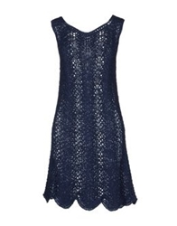 Anneclaire Short Dresses Slate Blue