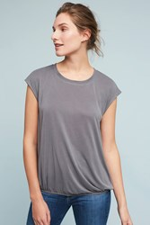 Anthropologie Bubbled Shell Top Dark Grey