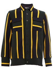 Sacai Striped Shirt Jacket Multicolour