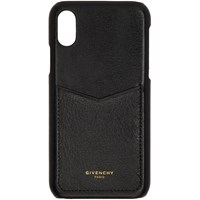 Givenchy Black Leather Edge Iphone X Case