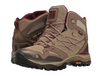 The North Face Hedgehog Fastpack Mid Gtx Dune Beige Deep Garnet Red Women's Lace Up Boots Brown