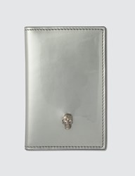 Alexander Mcqueen Patent Leather Card Holder Silver