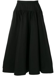 Calvin Klein 205W39nyc High Waisted Full Skirt Black