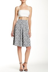 Everleigh A Line Skirt Gray