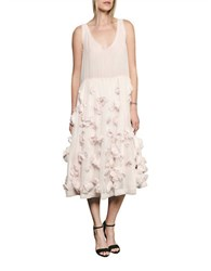 French Connection Agnes Floral Dress Powder Pink