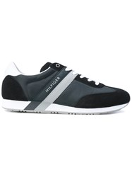 Tommy Hilfiger Panelled Sneakers Men Suede Nylon Polyester Rubber 46 Blue