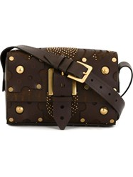 Valentino Garavani Studded Shoulder Bag Brown