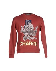 Etre Cecile Topwear Sweatshirts Men Brick Red