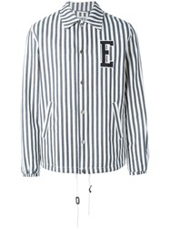 Edwin Striped Denim Jacket Blue
