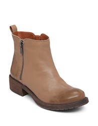 Lucky Brand Darbie Leather Booties Brown