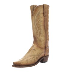 Lucchese Lily Western Knee Boots Beige