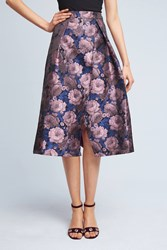 Anthropologie Rosarium Midi Skirt Purple