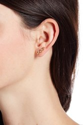 Vince Camuto Asymmetrical Ear Jacket Metallic