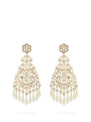 Etro Faux Pearl And Crystal Chandelier Earrings Pearl