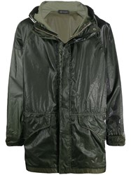 Mr And Mrs Italy Textured Style Contrast Panel Raincoat 60