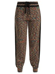 Missoni Side Stripe Cashmere Track Pants Black Multi