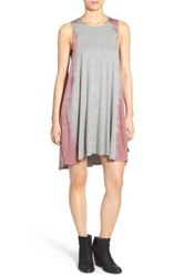 Rvca Sucker Punched Jersey Swing Dress Yellow