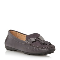 Episode Griffen Trim Tassle Loafers Grey