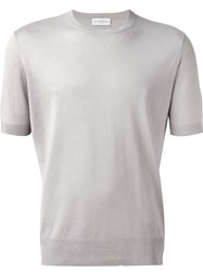 Ballantyne Fine Knit T Shirt Nude And Neutrals