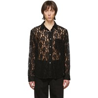 Our Legacy Black Lace Policy Shirt