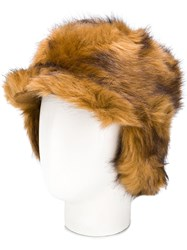Urbancode Textured Furry Hat Brown