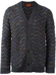 Missoni Zig Zag V Neck Cardigan Grey