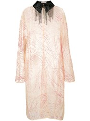 Christopher Kane Sequin Embroidered Coat Pink