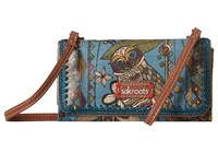 Sakroots Artist Circle Tech Wallet Crossbody Lagoon Spirit Desert Cross Body Handbags Blue