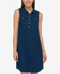 Tommy Hilfiger Shirtdress Only At Macy's Atlantic Blue