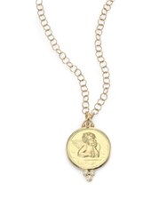 Temple St. Clair Angel Diamond And 18K Yellow Gold Large Pendant