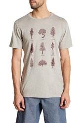 United By Blue Short Sleeve Front Graphic Print Tee Gray