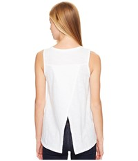 Woolrich Bell Canyon Eco Rich Tank Top White Women's Sleeveless