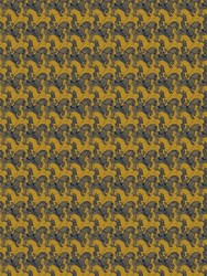 M.C.Escher Horseman Printed Wallpaper Grey Yellow