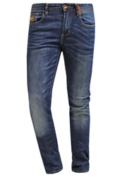 Superdry Corporal Slim Fit Jeans Brighton Blue Mottled Dark Blue
