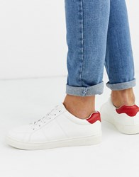 Kg By Kurt Geiger Back Tab Trainer In White