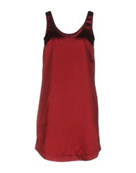 .. Merci Short Dresses Maroon