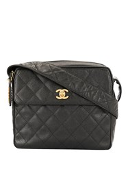 Chanel Vintage Cc Logo Shoulder Bag Black