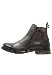 Sneaky Steve Heron Ankle Boots Charcoal London Grey