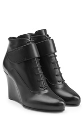 Jil Sander Leather Ankle Boots Black