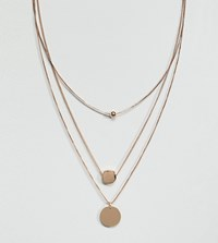 Accessorize Layering Necklace With Circle Detail Gold