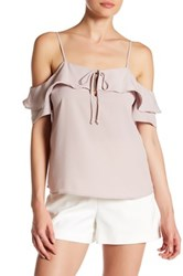 Harlowe And Graham Off The Shoulder Ruffle Cami Pink