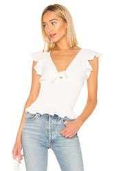 Amanda Uprichard Ember Smocked Top Ivory