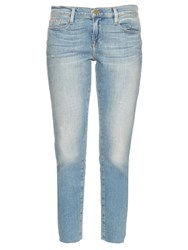 Frame Denim Le Garcon Mid Rise Straight Fit Boyfriend Jeans Light Blue