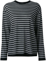 Alexander Wang T By Striped Jumper Black