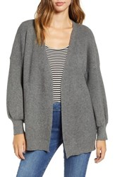 Dreamers By Debut Balloon Sleeve Cardigan Grey